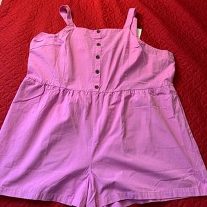 WOMEN'S PINK ROMPER SHORTS SIZE 4X